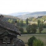 Cortona valley from above the house